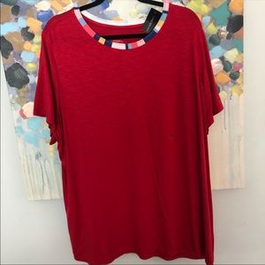Lane Bryant red top nwt